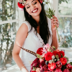 Autumn boho styled shoot